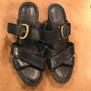 Born slip on mule  black with Buckle Size 9